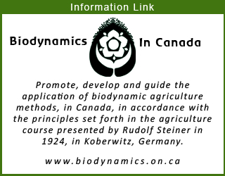Society for Biodynamic Farming and Gardening in Ontario